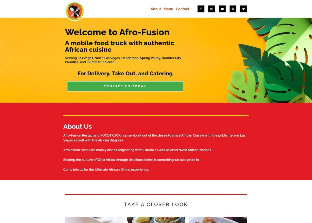 Afro-Fusion Restaurant Feature Image