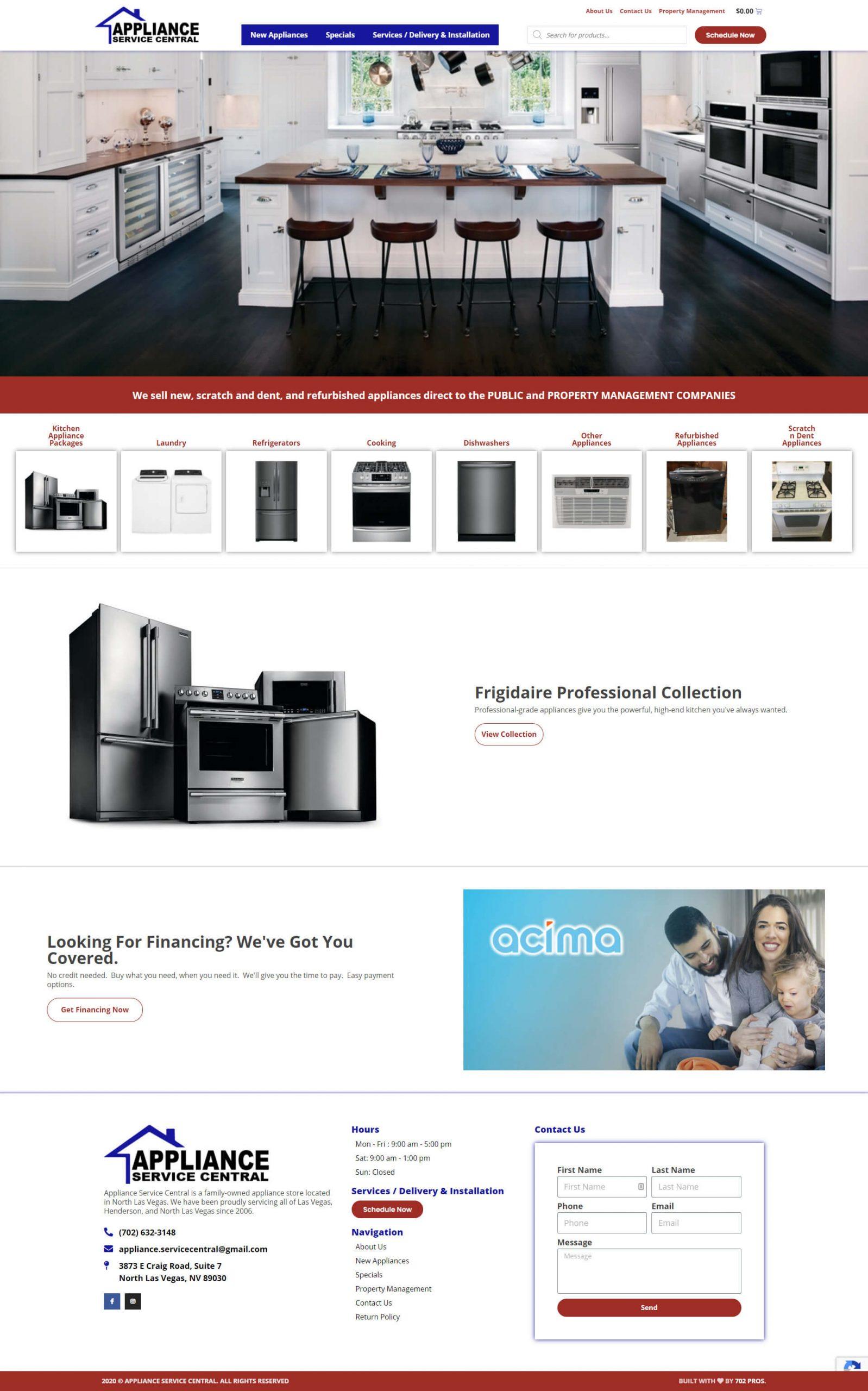 Appliance Service Central Desktop