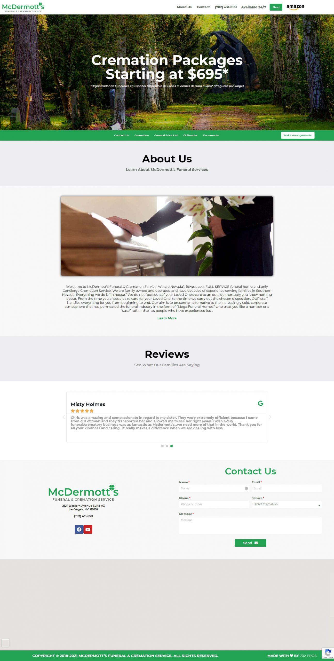 McDermotts Funderal & Cremation Service Desktop