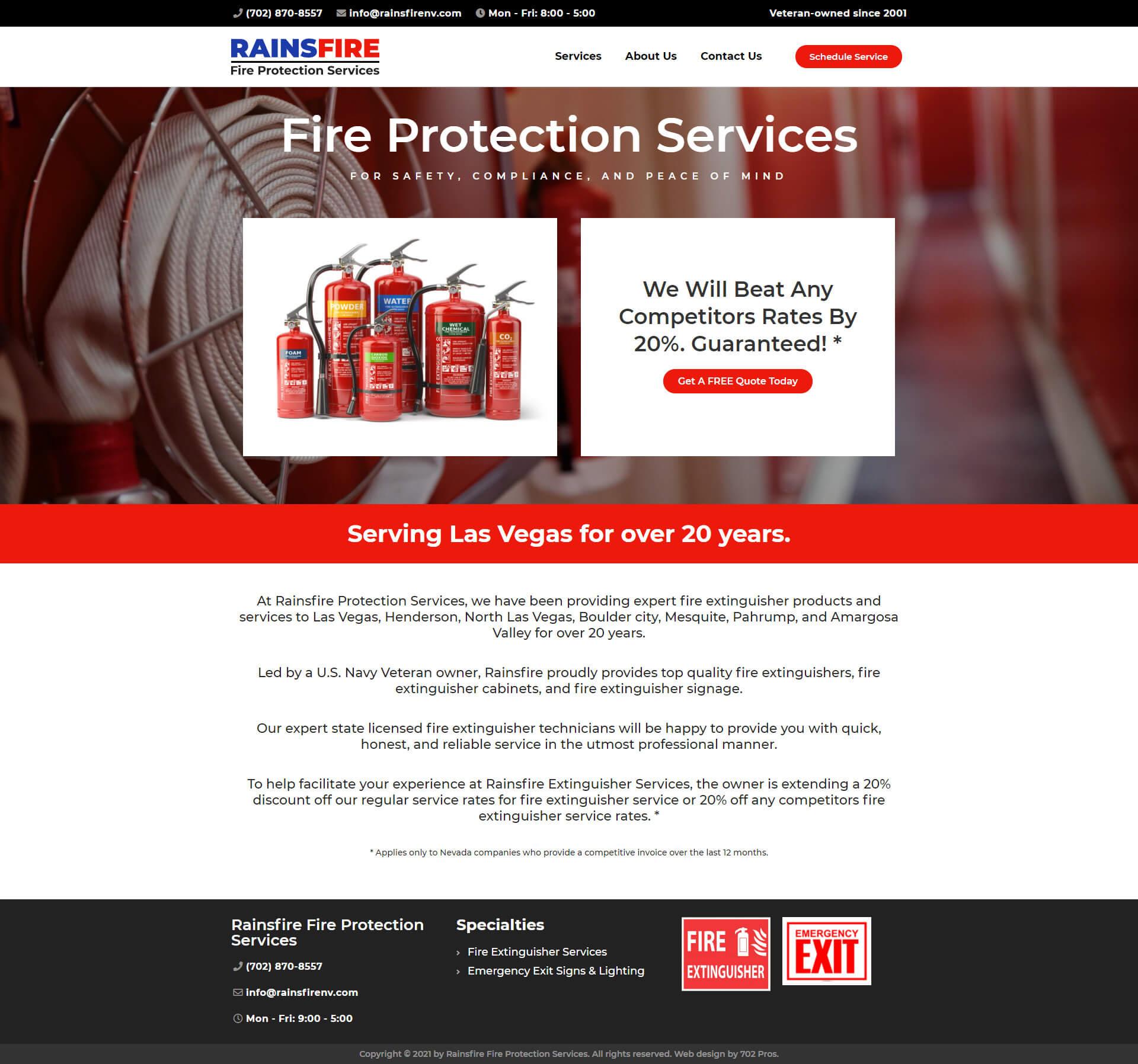 Rainsfire Fire Protection Services Desktop