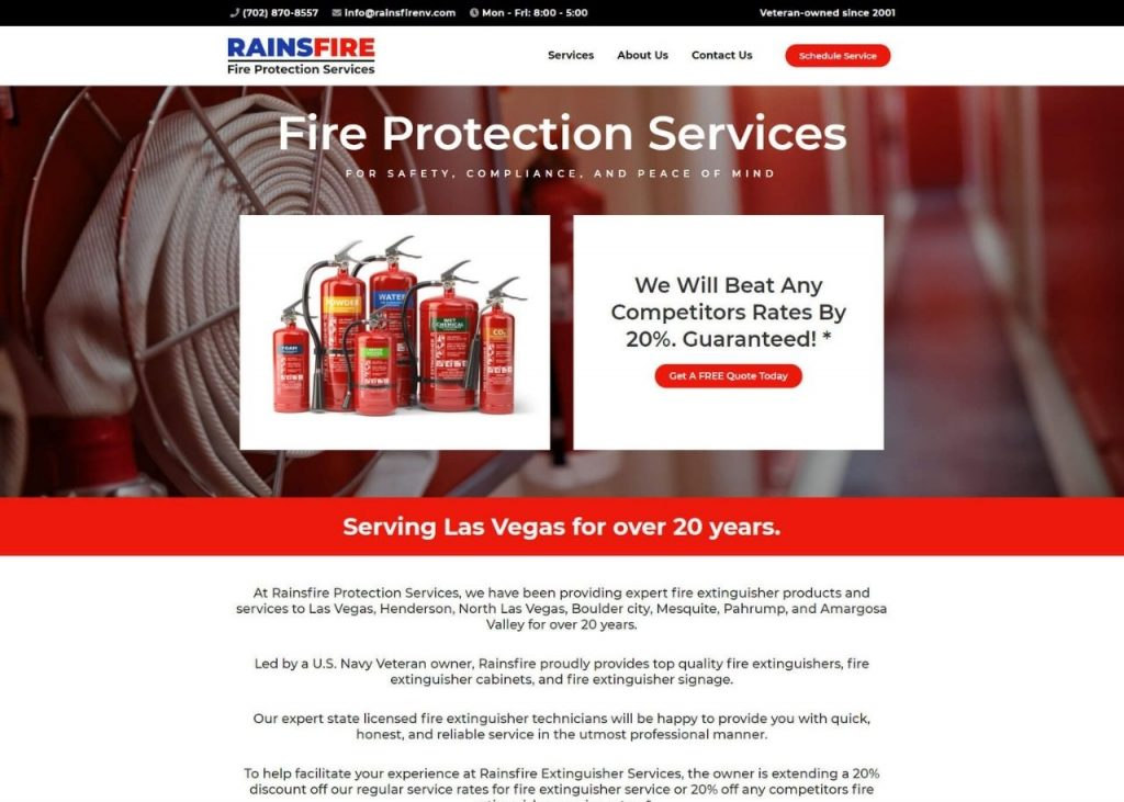 Rainsfire Fire Protection Services Feature Image